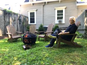 fire pit portrait